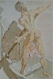 Salvador Dali: Hölle 3 - Holz Graviert Original, 1960 # Göttliche Komödie