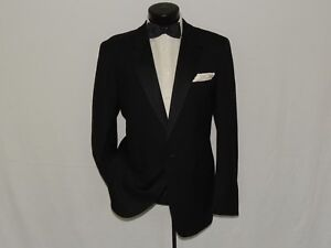 Ted-Lapidus-made-in-France-men-039-s-1-Button-PEAK-lapels-formal-tuxedo-jacket-42-R