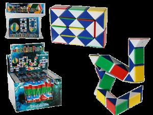 Magico-Cubo-Puzzle-61-6604-Retro-Classico-Plastica-Colorato-Fidget-Rompicapo