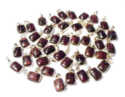 NICE 925 Sterling Silver RARE russe Eudialyte Pendentif 1 choisis au hasard F11
