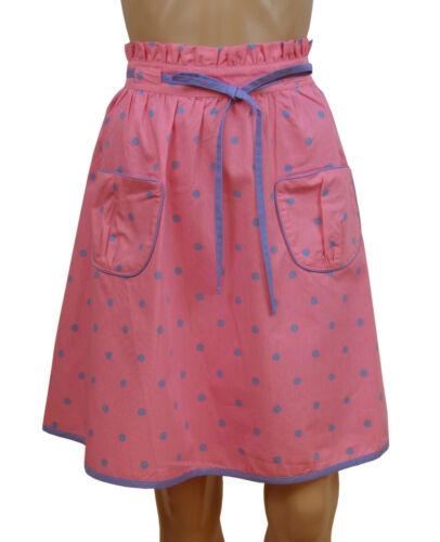 NEW Tayberry Pink Blue Spotty Dotty Knee Length Fully Lined Skater Skirt Size 12