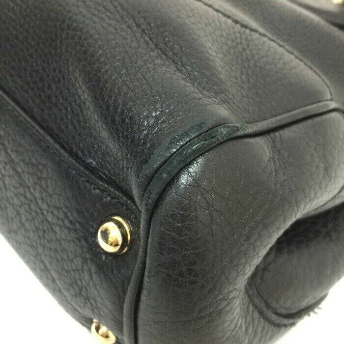 Auth GUCCI DIANA banboo Hand Bag 308360 Black - image 4