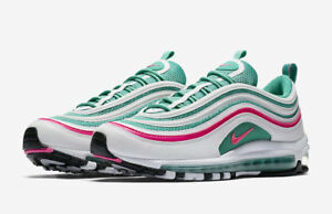 Details about Nike MEN'S Air Max 97 WhitePink BlackKinetic Green SOUTH BEACH SIZE 10.5 NEW