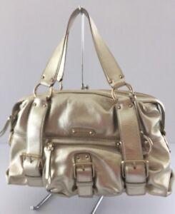 6e56c546dde7eb Michael Kors Speedy Handbag Purse Gold Metallic Pre Owned Authentic ...