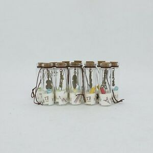 la imagen se est cargando 12 mini frascos cristal vintage para mensajes botella - Frascos De Cristal