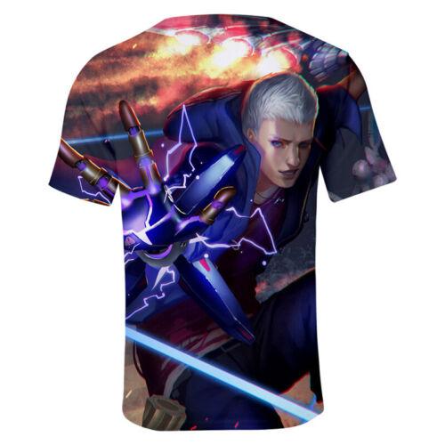 Game Devil May Cry 5 Full print 3D T-Shirt Men/'s Casual Short Sleeve Tee T Shirt