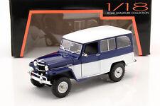 Willys Jeep Station Wagon Baujahr 1955 blau / weiß 1:18 Lucky DieCast