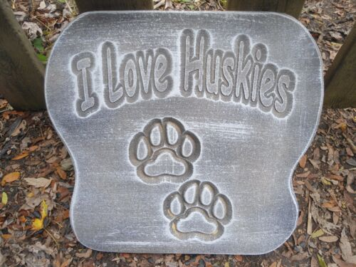 """Dog huskies lover plaque mold concrete plaster mould 12/"""" x 12/"""" x 1//2/"""" thick"""
