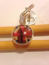 Bolsa De Regalo + 925 Plata Plateado Gemelos De Londres Inglaterra Gemelos Bandera Británica