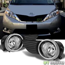 2011-2017 Toyota Sienna Bumper Driving Fog Lights Lamps w/ Switch+Wiring Kit Set