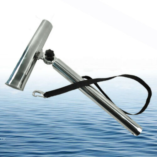 Outrigger Plug-in Boat //Yacht Fishing Rod Holder Stainless Steel 360° adjustable