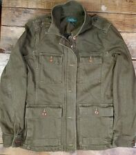 RALPH LAUREN Army Green Safari Military Jacket Women's Size M *NO BELT* GUC (M1)