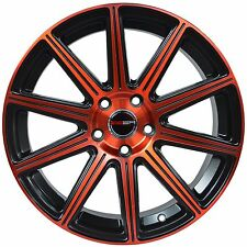4 GWG WHEELS 18 inch Red MOD Rims fits 5x120 ET40 CHEVY MALIBU LS 2013 - 2015