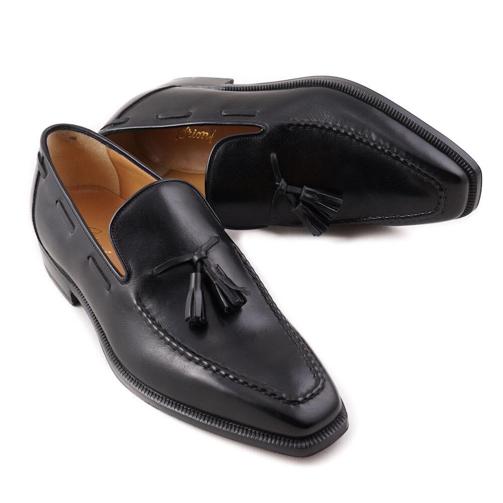 NIB  1225 BRONI nero Leather Lofer con  Tassel dettaglio US 8 Dress scarpe  risparmia il 60% di sconto