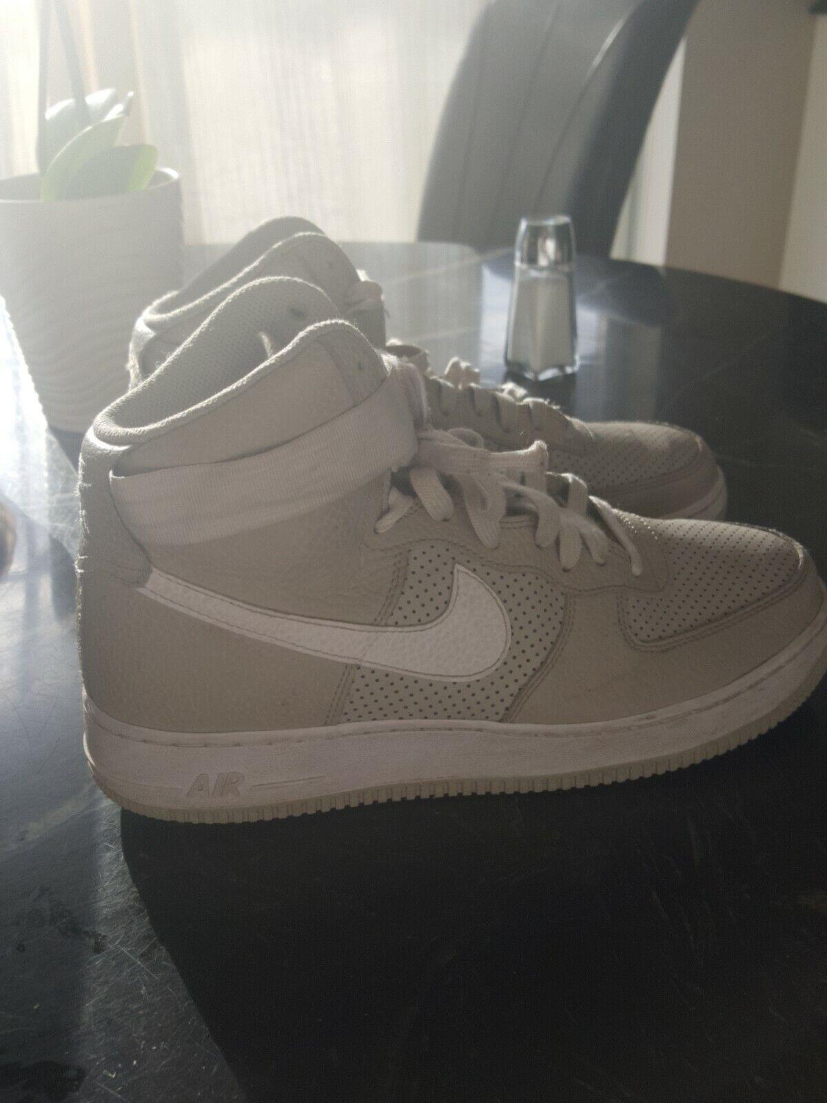 Nike Air Air Air Force 1 High Mens 315121-039 Pale Grey White Leather shoes Size 8.5 700ba7