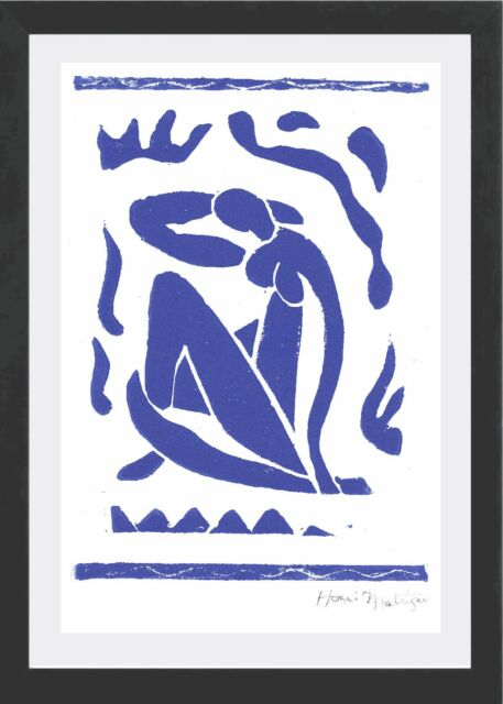 "Henri Matisse Original Limited Edition Print ""Blue Nude"" Hand Signed with COA"