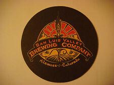 Beer Bar Coaster: SAN LUIS VALLEY Brewing Company ~ Alamosa, COLORADO Since 2006