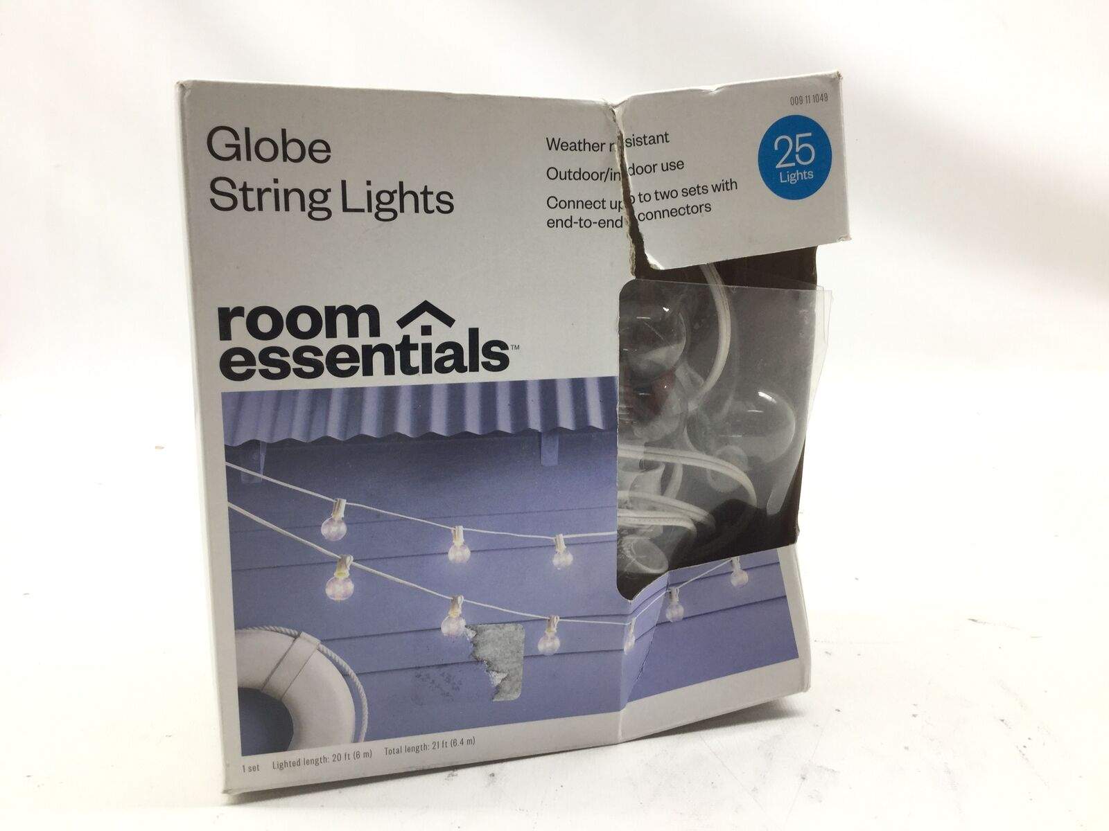 Room Essentials 20ct Clear Globe Lights White Wire For Sale Online