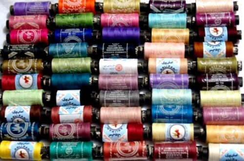 New 50 x Sewing All Purpose 100/% Pure Cotton Spools Threads Assorted Colours