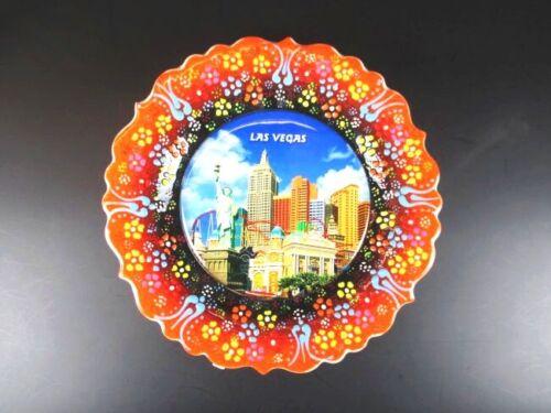 Las Vegas Nevada New York Hotel Souvenir Teller Plate 18 cm,Keramikteller,(4)