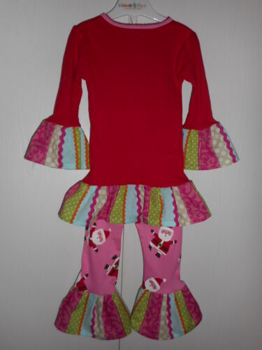 fc173fb16392 TODDLER GIRLS CARTER S Christmas Pajama Outfit with Handmade Ruffles Size  3T NWT