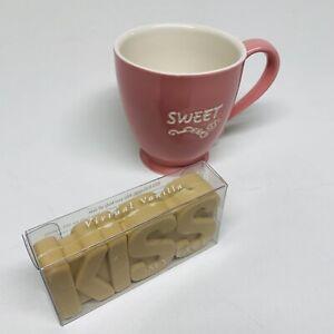 Starbucks SWEET Pink 15 oz Coffee Tea Mug, Kiss My Face Virtual Vanilla Bar Soap