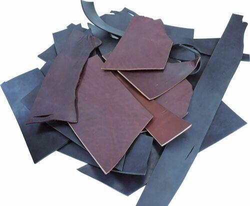 ELW 1 LB Latigo Leather Wallet Making Scrap Bags Black /& Burgundy Mix