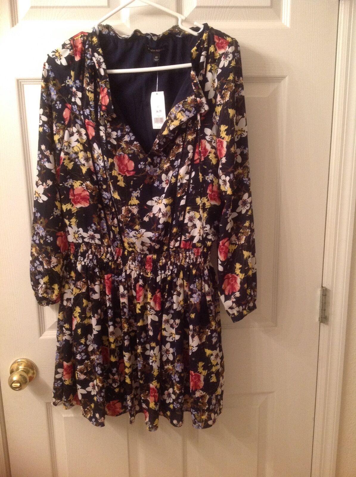a83db4bf3f8a6 ... Banana Republic Womens Floral Long Sleeve Dress size XS XS XS NWT  a9e78e ...