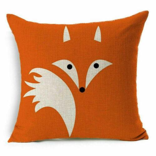 Animal Print Home Decor Pillow Cotton Linen Case Sofa Car Cushion Cover
