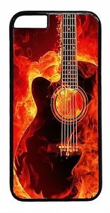 Guitar-Stings-Rock-Art-New-Design-Back-Case-Rubber-Hard-Cover-For-iPhone-Models
