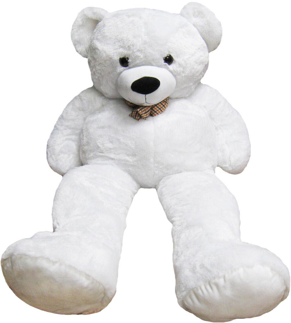 Kreative Kids Ultra-Soft and Cuddly 4 Feet Life Size Giant Teddy Bear - bianca