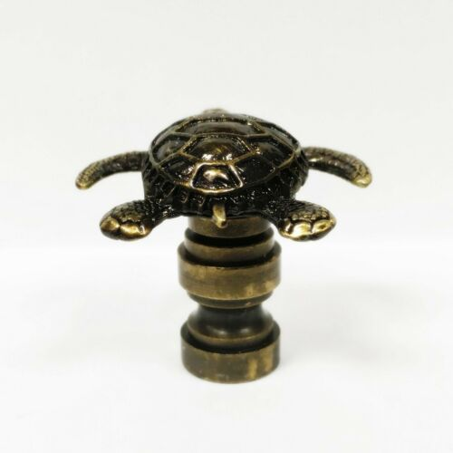 Highly detailed metal casting-FS Lamp Finial-TORTOISE-Aged Brass Finish