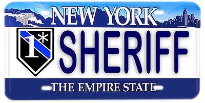 New York Vanity Aluminum NOVELTY License Plate Law Enforcement HOMICIDE