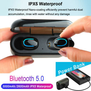 Details about Twins Bluetooth 5 0 Earbuds Headset TWS Wireless Earphones 5D  Stereo Headphones