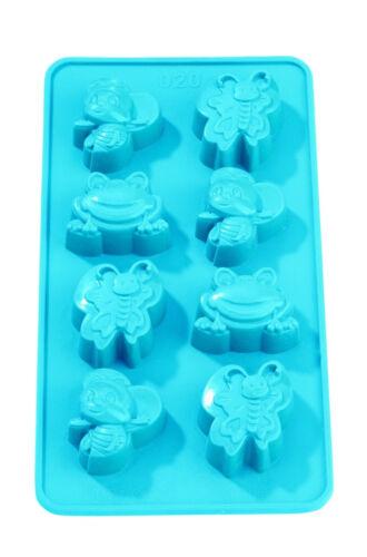 Hobbyfun silicona forma silicona-ttrovingsl back forma para jabón pastel etc animales