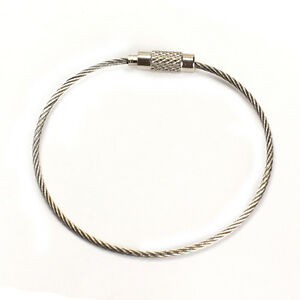 20pcs-Stainless-Steel-Wire-Rope-Keychain-Key-Ring-Cable-For-Outdoor-Hiking-Sport