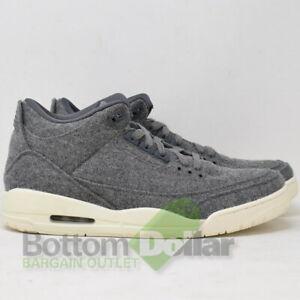 a9be90def0a Nike Men's Air Jordan Retro 3 Wool Basketball Shoes Dark Grey 854263 ...