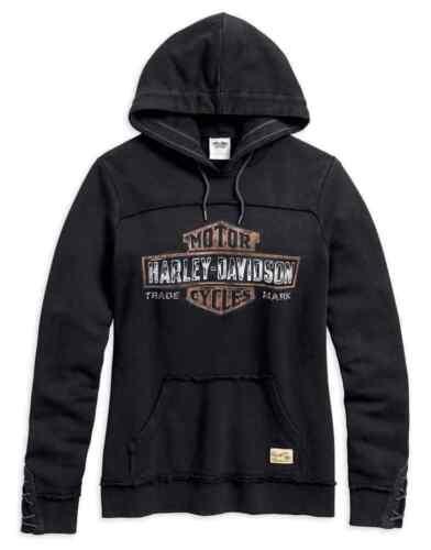 Harley-Davidson® Women/'s Genuine B/&S Pullover Hoodie Black 99100-17VW