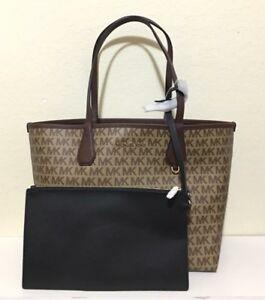 7776d3b7b1ba Michael Kors Large Candy Reversible Tote Bag In Khaki Signature ...
