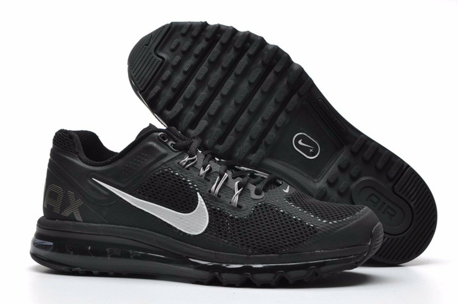 Nike Air Max + 2013 Running shoes size 7.5 554886-001 Mens Black Dark Grey