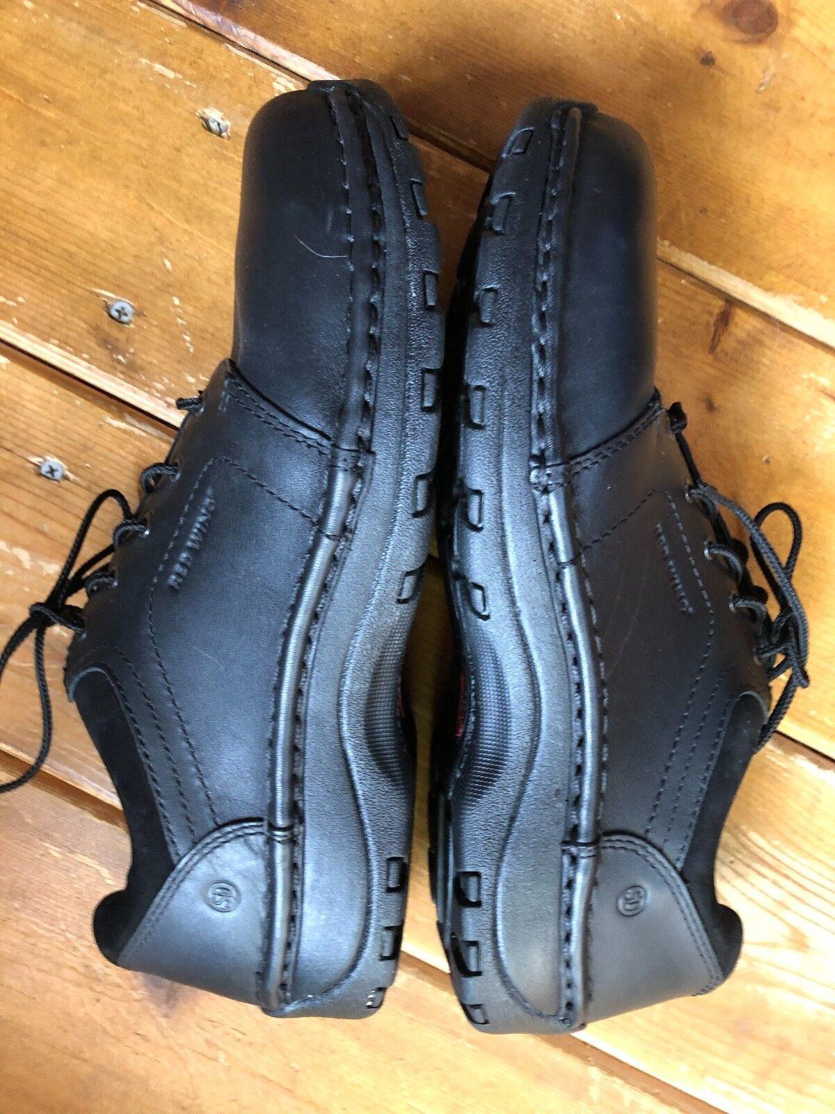 Rouge  wing acier noir toe toe noir chaussures taille 10 astmf femmes 2413- 11 po rt é d eux fois! 93d44b