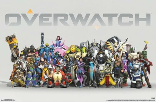 ANNIVERSARY CHARACTER LINEUP POSTER OVERWATCH 22x34 VIDEO GAME 16689