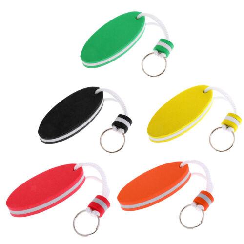 Set of 5pcs Oval EVA Foam Floating Key Ring Keychain Safety Key Holder