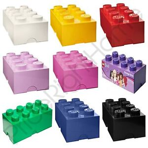Incroyable Image Is Loading LEGO STORAGE BRICK BOX 8 KNOBS KIDS CHILDRENS