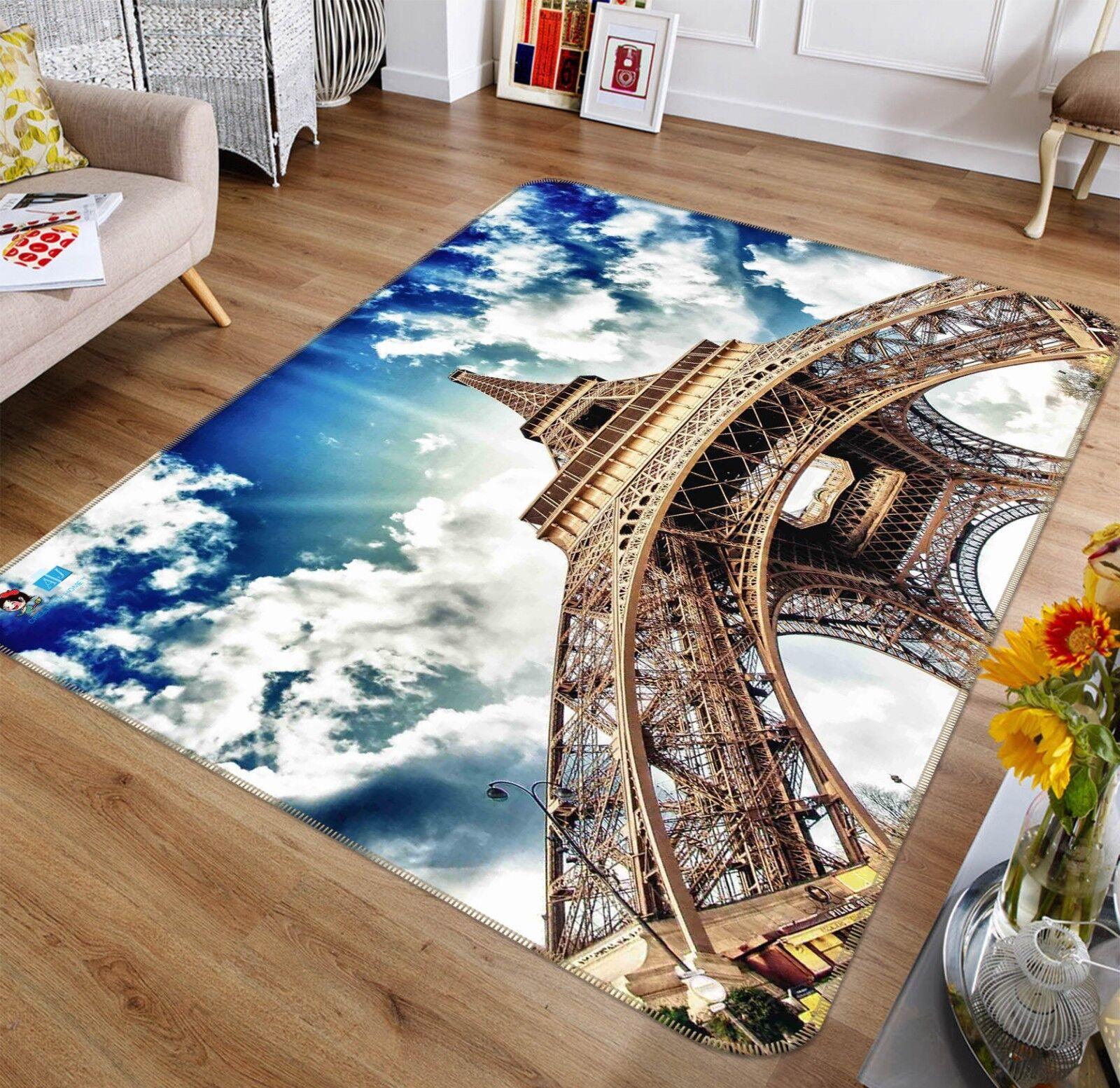 3d Torre Eiffel 27 antiscivolo TAPPETO TAPPETINO BAGAGLIAIO Qualità Tappeto Elegante De