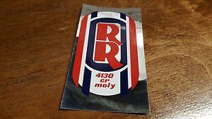 chrome head tube stickers BMX NOS Johnny Reb General Lee Rebel Racing 2nd Gen