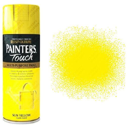 X1 Rust-oleum Peintres Touch Multi-Usage Peinture Aérosol Jaune Soleil Brillant