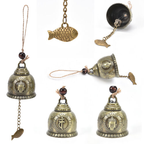 buddha statue pattern bell blessing feng shui wind chime for good luck SG