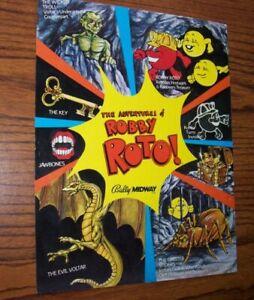 Robby-Roto-Arcade-Game-FLYER-Original-1982-Classic-Video-Game-Artwork-Sheet