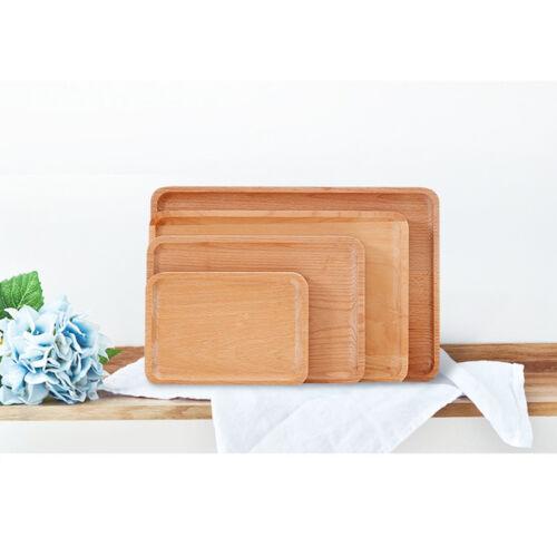 Home Wooden Tray Dessert Fruit Tea Coffee Breakfast Kitchen Platter Beech